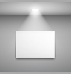 frame on the wall with light on gray background vector image