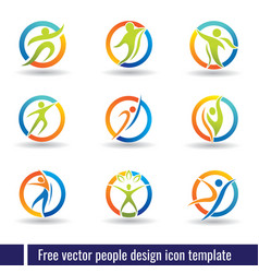 Free people design icon template vector