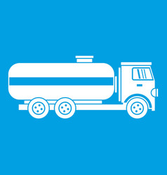 fuel tanker truck icon white vector image