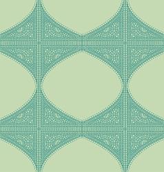 Geometric corner frame pattern ethnic tile vector