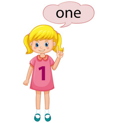 girl with number one vector image