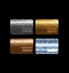 gold silver bronze vip premium member cards vector image