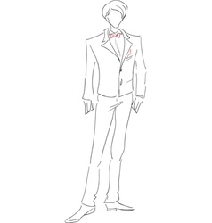 Groom sketch vector image
