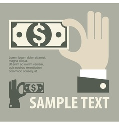 Hand holding money vector