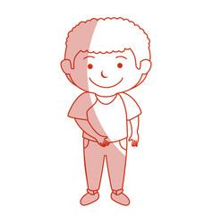 Happy little boy character vector