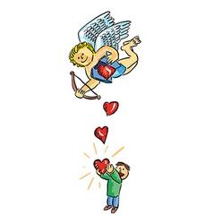Hearts fallings vector