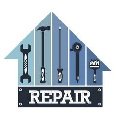 Housing repair tool vector