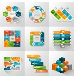 Infographic Templates Icons Set vector
