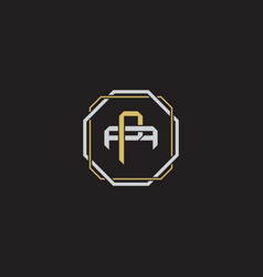 Initial letter overlapping interlock logo vector