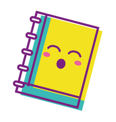 Kawaii cute funny notebook tool vector