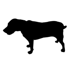 Labrador dog silhouette isolated on white vector