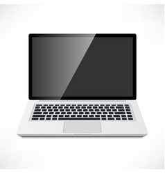 laptop front view vector image
