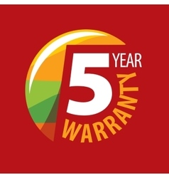 Logo 5 years warranty vector