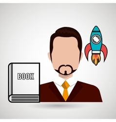 man book idea icon vector image