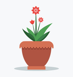 mandevilla flower and leaves vector image