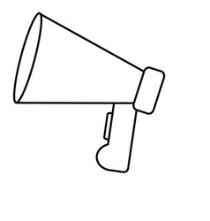 megaphone device icon vector image