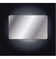metallic grid background with plate vector image