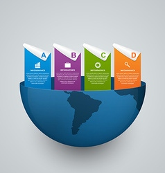 Modern global options infographics template Design vector