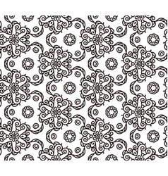 mono line pattern for your design vector image
