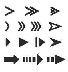 next arrows black flat signs vector image
