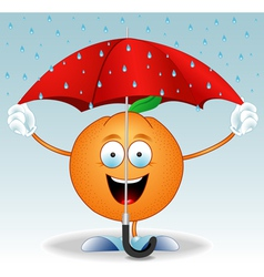 Orange under an umbrella vector image