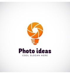 Photo Ideas Abstract Logo Template Shutter vector image