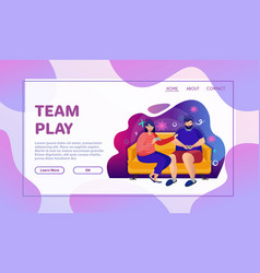 playing games flat vector image