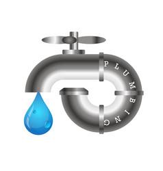 Plumbing design vector