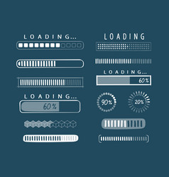 progress loading icon load download upload vector image