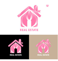 Real estate logo free vector