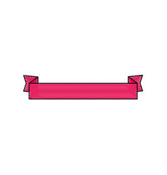 Ribbon banner isolated vector