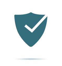 shield check mark icon isolated on background mod vector image