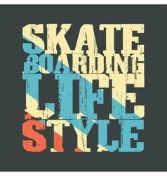 Skateboarding t-shirt emblem vector