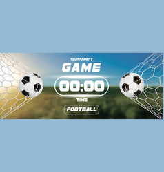 soccer or football banner with 3d ball and vector image