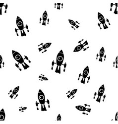 Space background for kids spaceship seamless vector
