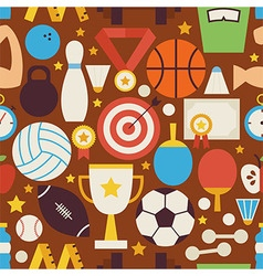 Sport Recreation and Competition Flat Design vector image