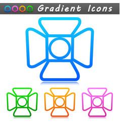 spotlight symbol icon design vector image