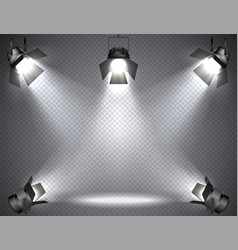 Spotlights with bright lights vector