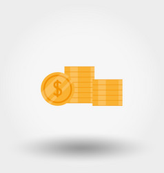 Stack coins vector