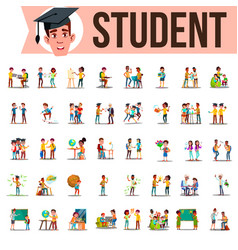 student set lifestyle situations spending vector image
