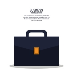 Suitcase bag business icon vector