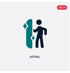 Two color astral icon from magic concept isolated vector
