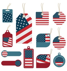 usa tags vector image