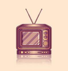 vintage retro old tv television vector image