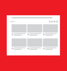 Web layout design for desktop template vector