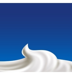 Whipped cream vector image