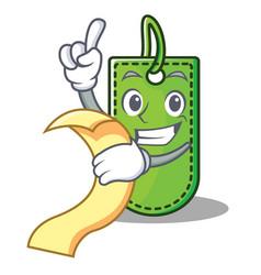 with menu price tag mascot cartoon vector image