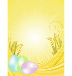 yellow Easter background vector image vector image