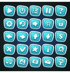 Comic cartoon buttons set vector image vector image