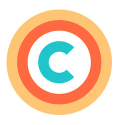 flat copyright symbol sign vector image